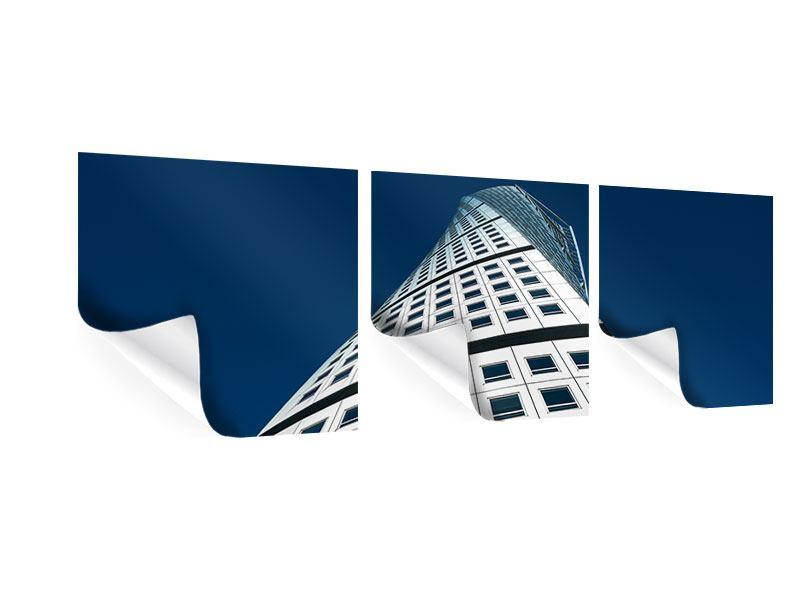 Panorama Poster 3-teilig Meisterstück Wolkenkratzer
