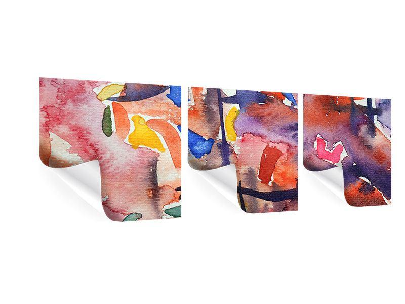 Panorama Poster 3-teilig Aquarell