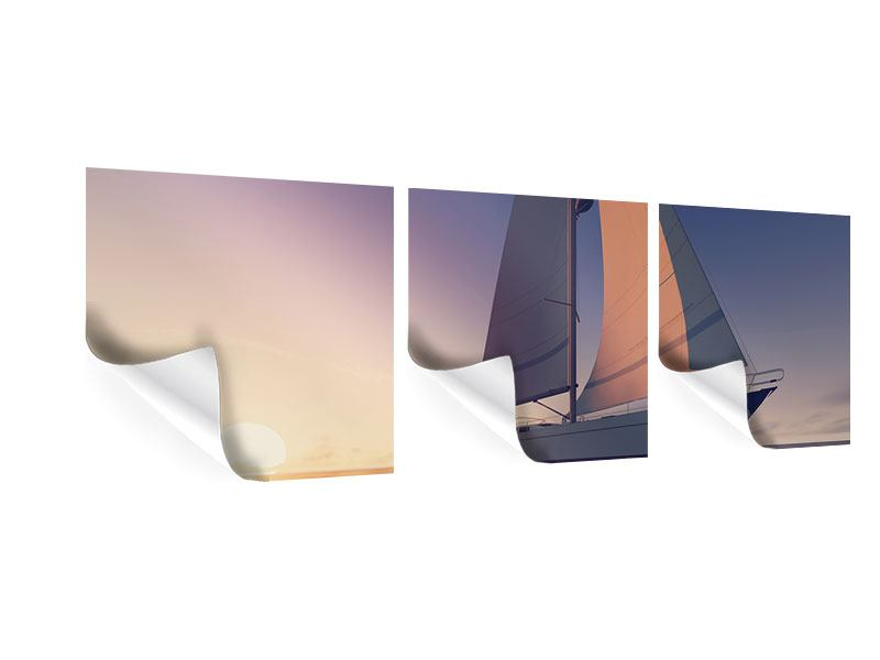 Panorama Poster 3-teilig Das Segelschiff