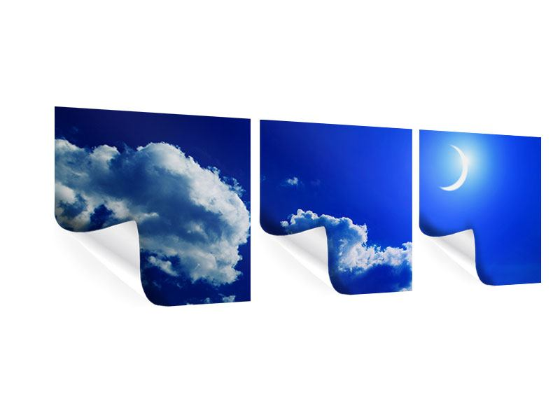 Panorama Poster 3-teilig Der Mond