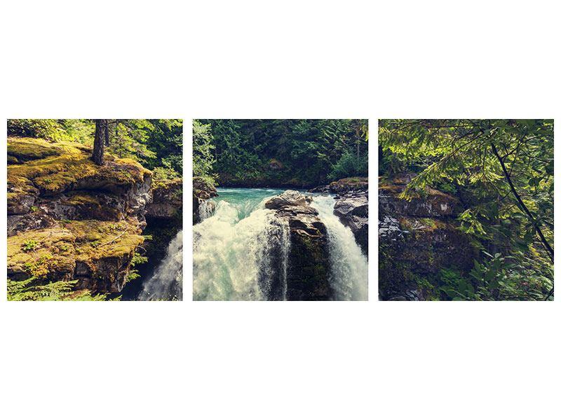 Panorama Poster 3-teilig Flussströmung