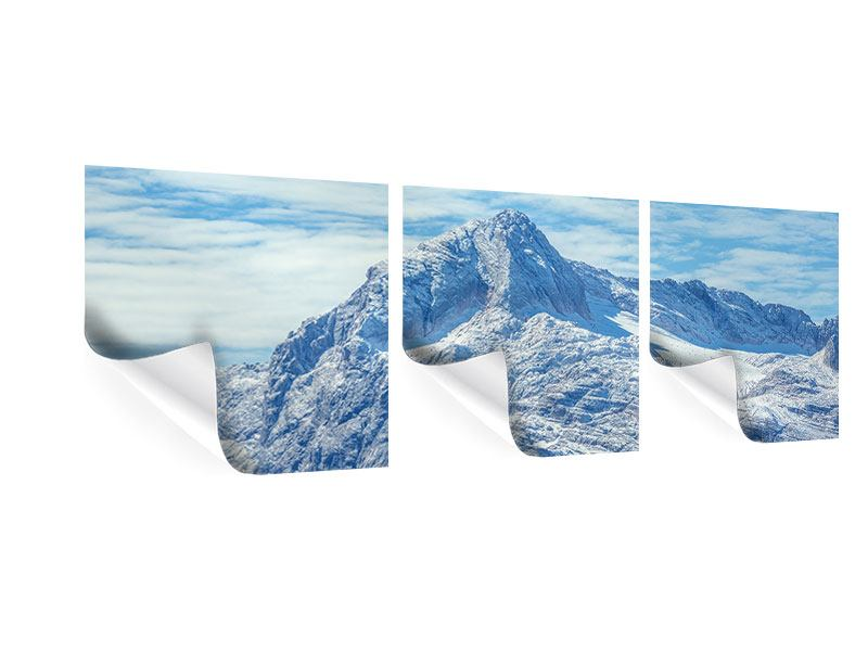 Panorama Poster 3-teilig Friedliche Bergstimmung