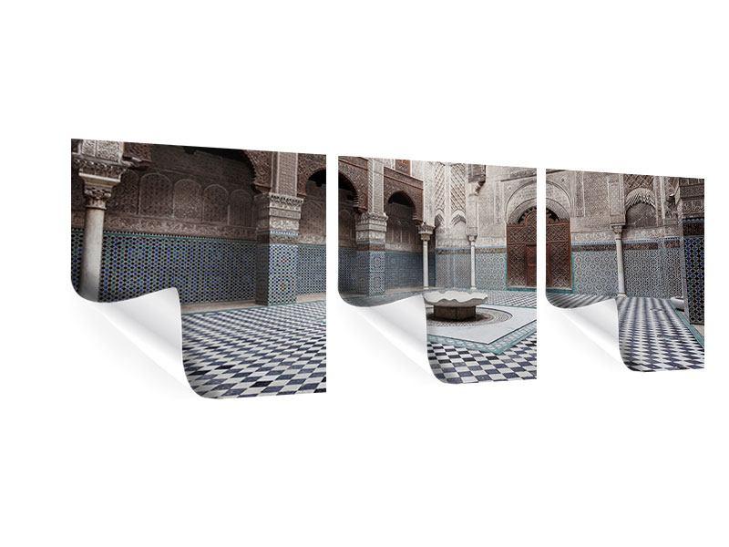 Panorama Poster 3-teilig Orientalischer Hinterhof