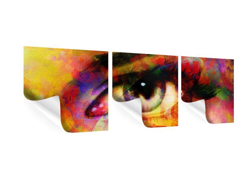 Panorama Poster 3-teilig Das Auge