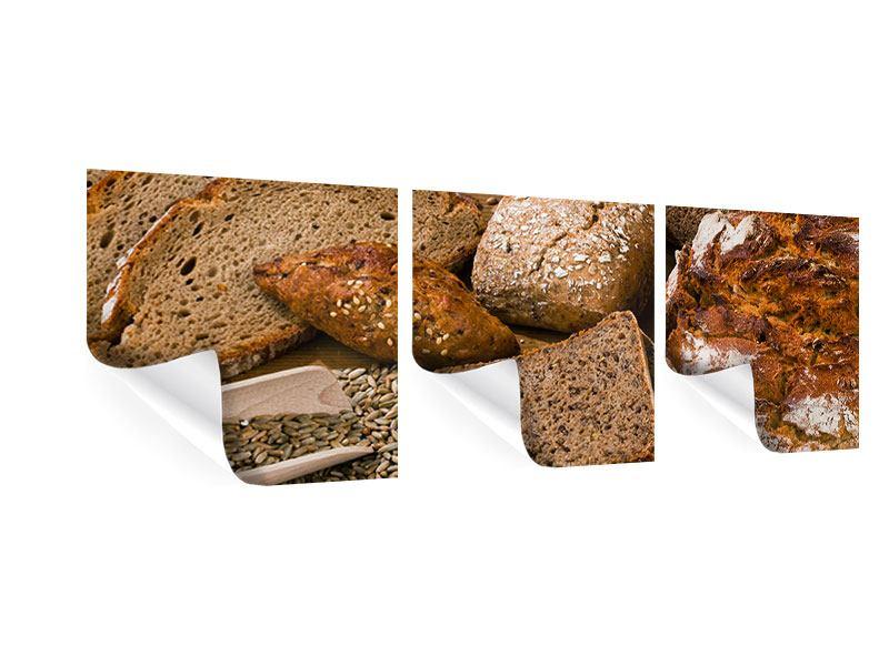 Panorama Poster 3-teilig Brotarten