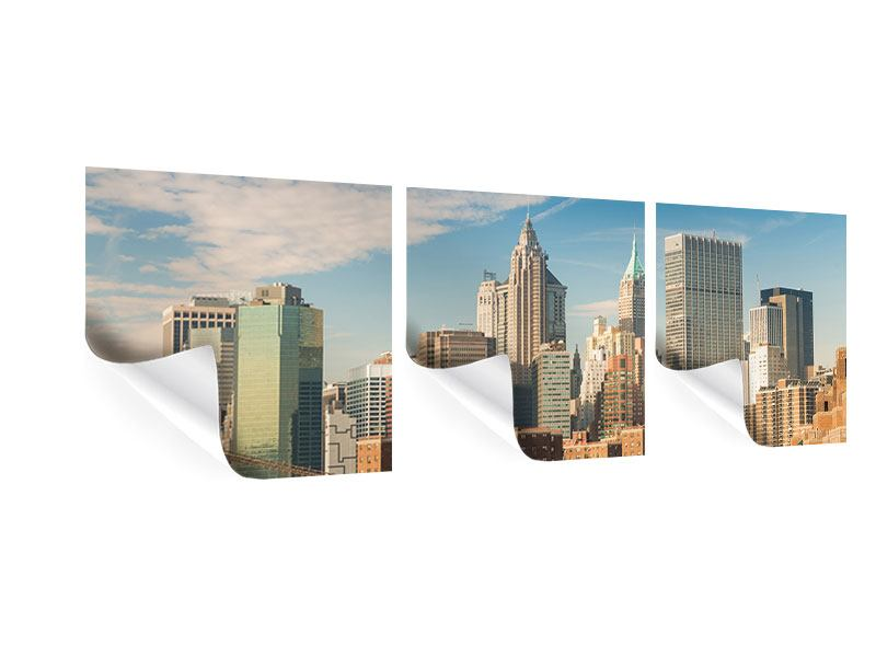 Panorama Poster 3-teilig Skyline New York