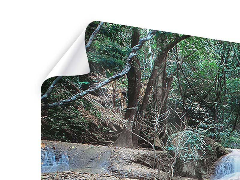 Panorama Poster 3-teilig Ein Wasserfall