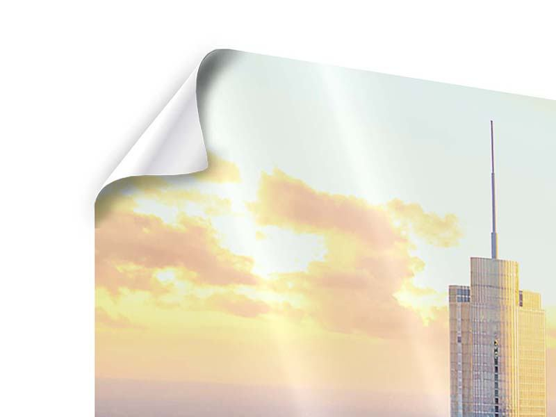 Panorama Poster 3-teilig Skyline Chicago