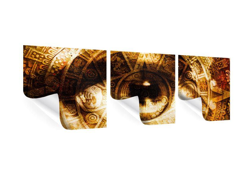 Panorama Poster 3-teilig Fraktales Auge