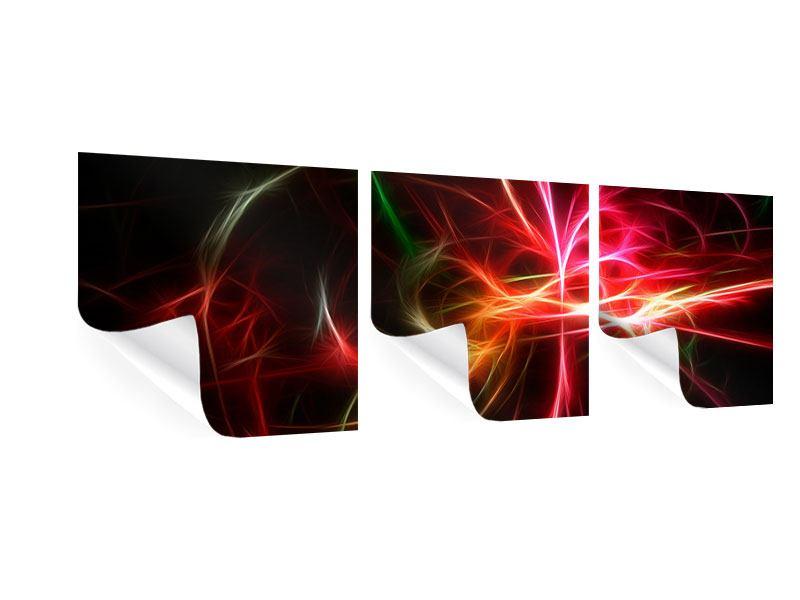 Panorama Poster 3-teilig Fraktales Lichtspektakel