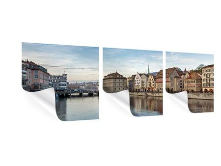 Panorama Poster 3-teilig Kosmopolitisches Zürich