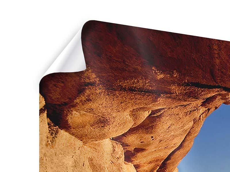 Panorama Poster 3-teilig Sonnenuntergang vor der Höhle
