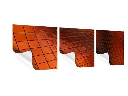 Panorama Poster 3-teilig 3D-Kacheln