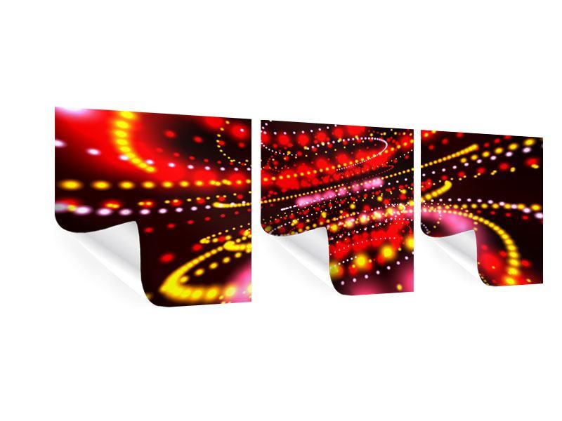 Panorama Poster 3-teilig Abstraktes Lichtspiel