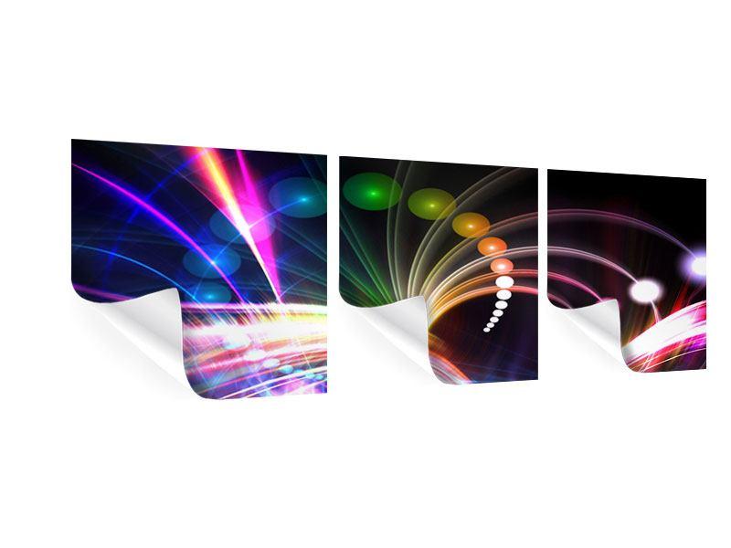 Panorama Poster 3-teilig Abstrakte Lichtreflexe