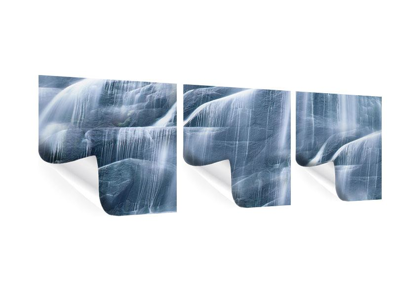 Panorama Poster 3-teilig Grossartiger Wasserfall