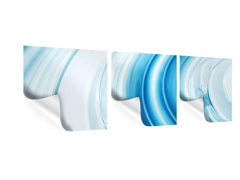 Panorama Poster 3-teilig Abstraktes Glas