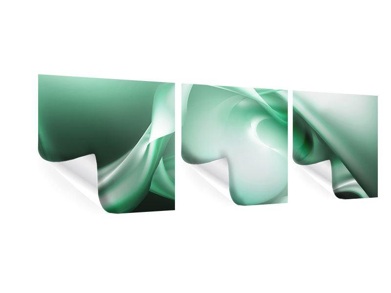 Panorama Poster 3-teilig Abstrakt Tuchfühlung