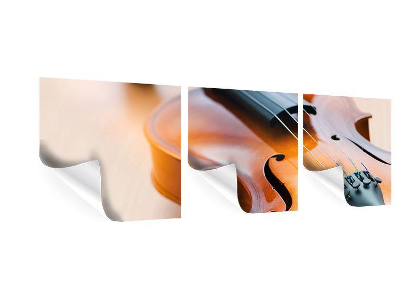 Panorama Poster 3-teilig Geige