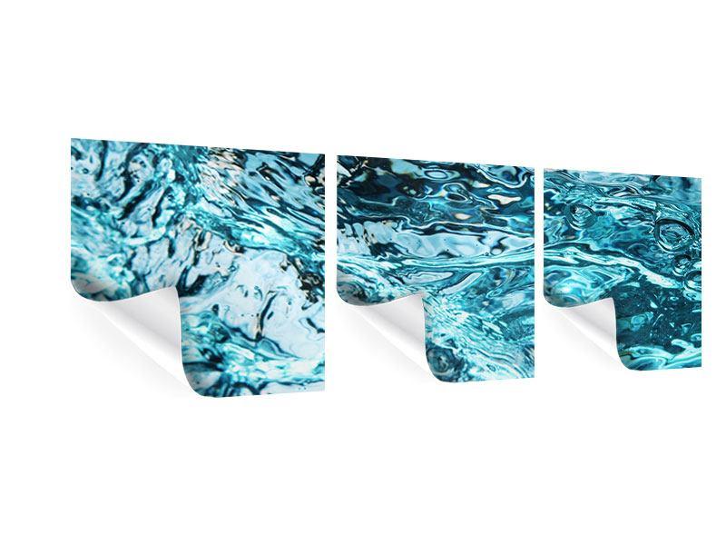 Panorama Poster 3-teilig Schönheit Wasser