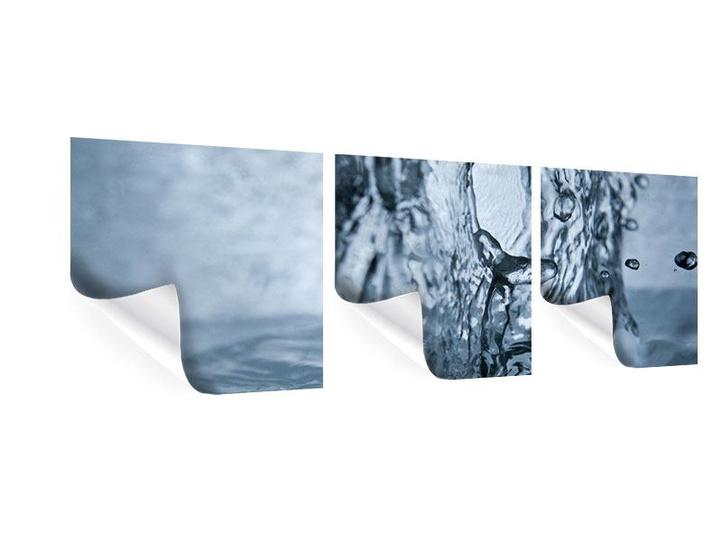 Panorama Poster 3-teilig Wasserdynamik