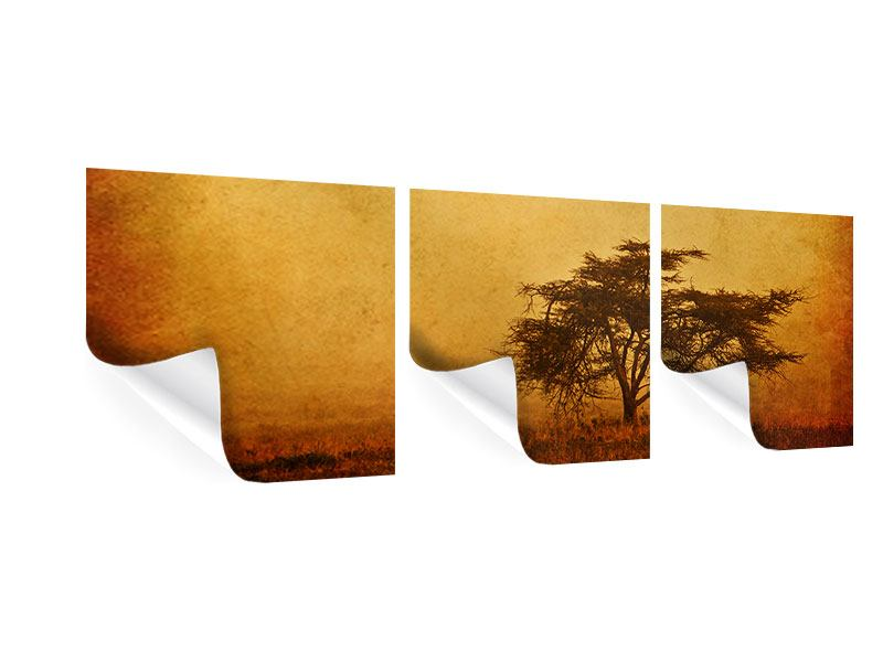 Panorama Poster 3-teilig Sonnenuntergangsstimmung
