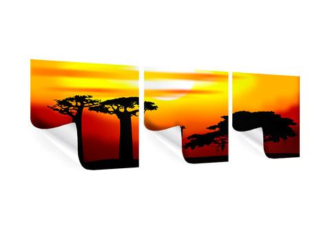 Panorama Poster 3-teilig Faszination Afrika