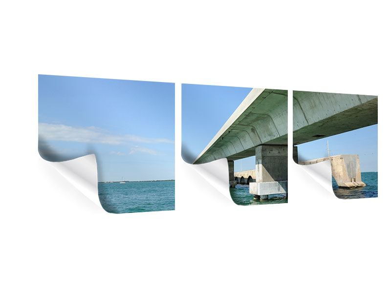 Panorama Poster 3-teilig Seven Mile Bridge