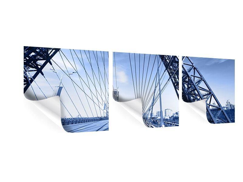 Panorama Poster 3-teilig Schiwopisny-Brücke