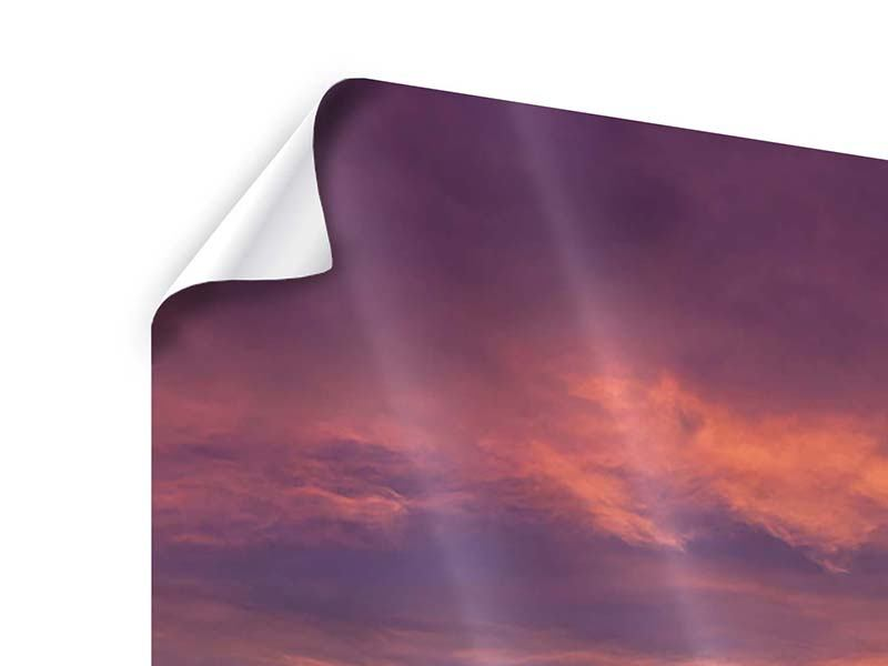 Panorama Poster 3-teilig Abenddämmerung