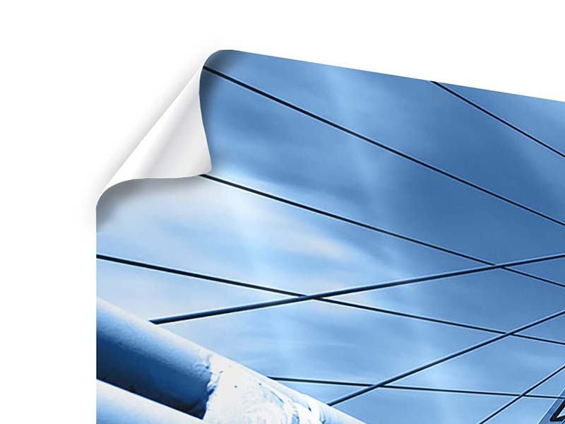 Panorama Poster 3-teilig Avantgardistische Hängebrücke