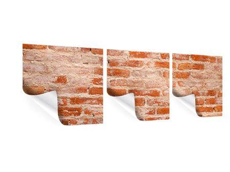 Panorama Poster 3-teilig Mauerwerk