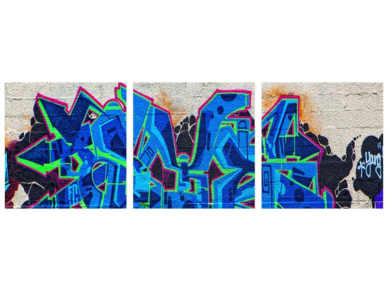 Panorama Poster 3-teilig Graffiti NYC