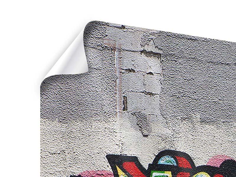 Panorama Poster 3-teilig Graffiti in New York