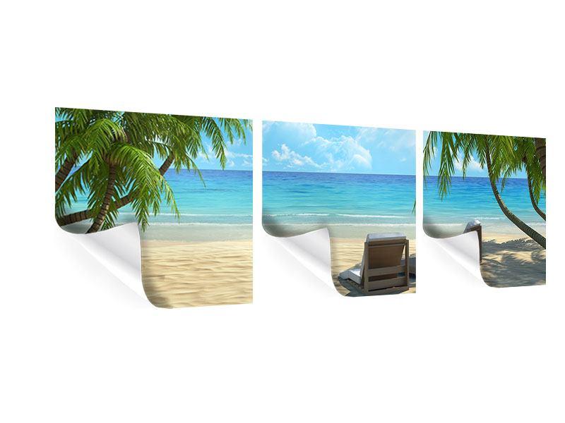 Panorama Poster 3-teilig Strandparadies