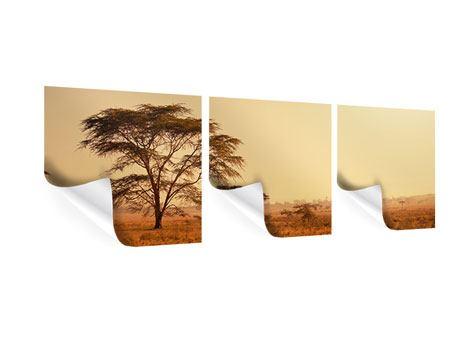 Panorama Poster 3-teilig Weideland in Kenia