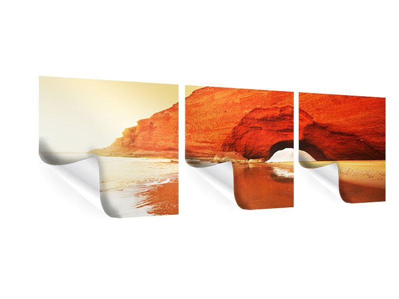 Panorama Poster 3-teilig Wasserspiegelung