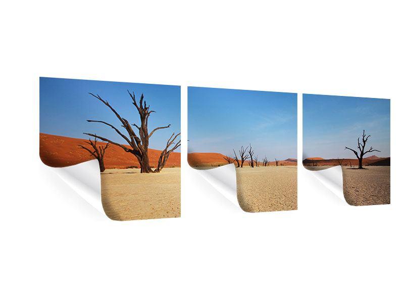 Panorama Poster 3-teilig Wüste