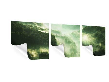 Panorama Poster 3-teilig Über den Wäldern
