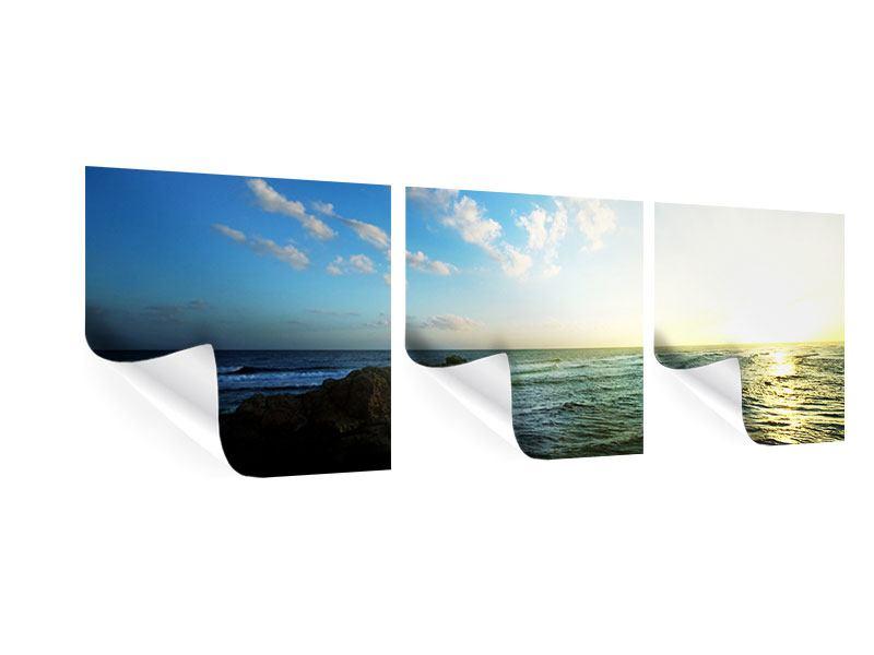 Panorama Poster 3-teilig Die See