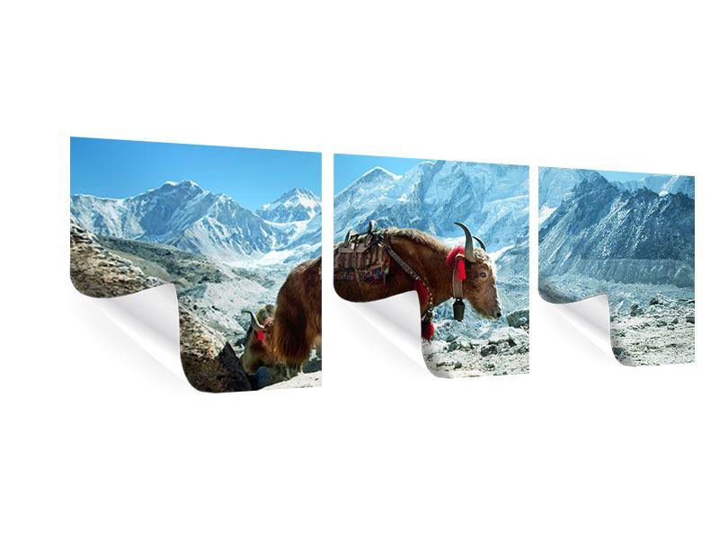 Panorama Poster 3-teilig Das Himalaya-Gebirge