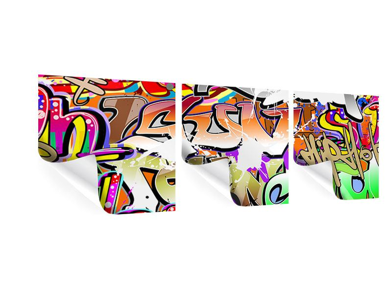 Panorama Poster 3-teilig Writings