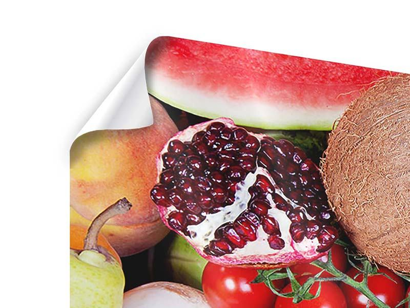 Panorama Poster 3-teilig Frisches Obst