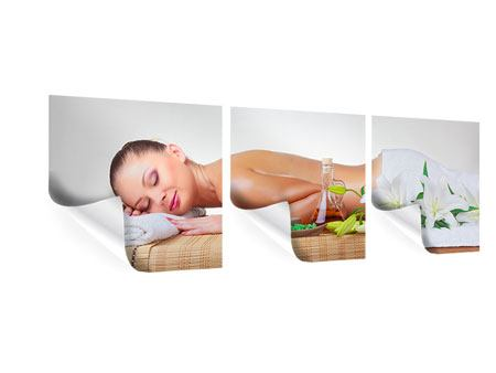 Panorama Poster 3-teilig Spa