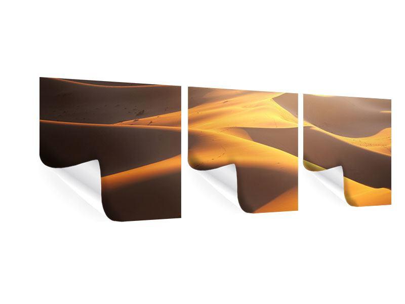 Panorama Poster 3-teilig Wüstenwanderung