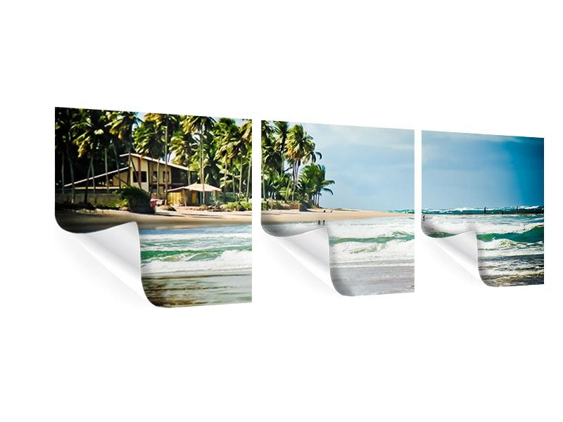 Panorama Poster 3-teilig The Beach