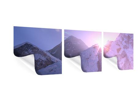 Panorama Poster 3-teilig Sonnenaufgang beim Mount Everest