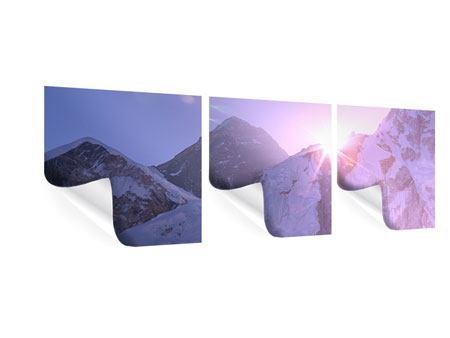 Panorama Poster 3-teilig Sonnenaufgang beim Mount Everest