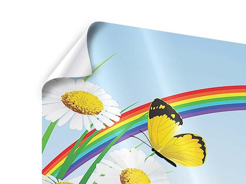 Panorama Poster 3-teilig Der bunte Regenbogen