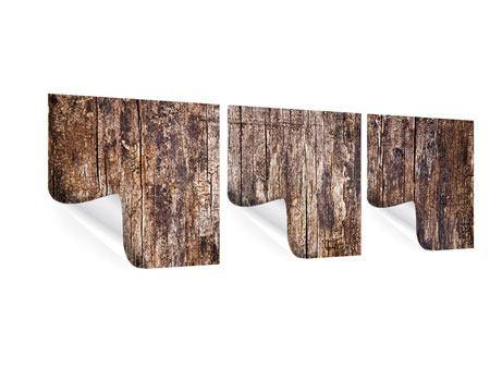 Panorama Poster 3-teilig Retro-Holz